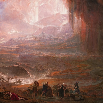 John Martin's early 19th-c. vision of the beach at Stabiae